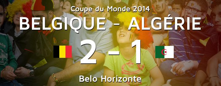 Belgique Algerie après match