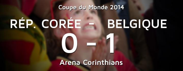Coree Belgique après match